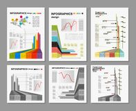 Blanc conceptuel - conception colorée d'infographics Image stock