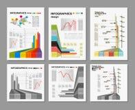 Blanc conceptuel - conception colorée d'infographics Image stock