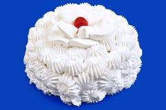 blanc crème de gâteau Photographie stock libre de droits