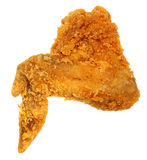 Blanc croustillant de Fried Chicken Wing Isolated Over de vue supérieure Image stock