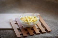blanc cru de macaronis de nourriture de fond de chéri Images stock