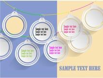 Blanc d'étiquette de cycle pour le vecteur de l'information Photo stock