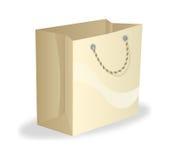 blanc d'achats de vente de papier d'oncept d'isolement par sac Photos libres de droits