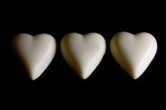 blanc d'amour de coeur de chocolat Images libres de droits