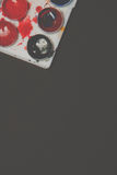 blanc d'aquarelle d'isolement par cadre de fond Image stock