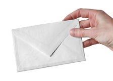 blanc d'enveloppe images stock