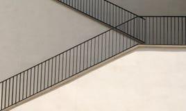 blanc d'escalier Photos libres de droits