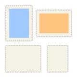 blanc d'estampilles de courrier Photographie stock libre de droits