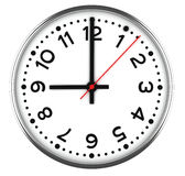 blanc d'horloge Photographie stock libre de droits