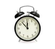 blanc d'horloge de fond d'alarme vieux Image stock