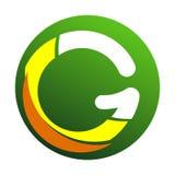 Blanc d'icône de logo de lettre de G d'isolement illustration libre de droits