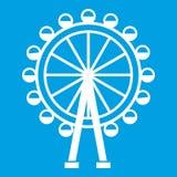 Blanc d'icône de grande roue illustration libre de droits