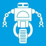 Blanc d'icône de robot de machine Images libres de droits