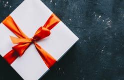 blanc d'image de cadeau du cadre 3d Photos stock