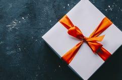 blanc d'image de cadeau du cadre 3d Photo stock