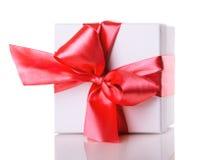 blanc d'image de cadeau du cadre 3d Images libres de droits