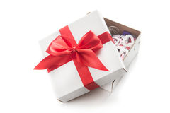blanc d'image de cadeau du cadre 3d Photographie stock