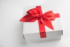 blanc d'image de cadeau du cadre 3d Image libre de droits