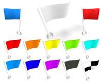 blanc d'indicateur Image stock
