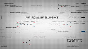 Blanc d'intelligence artificielle de mots-clés illustration de vecteur