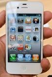 Blanc d'Iphone 4 Photo libre de droits