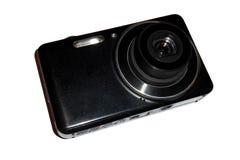 blanc d'isolement avant digital compact de vue d'appareil-photo Photos libres de droits