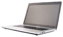 blanc d'isolement d'ordinateur portatif Photos libres de droits