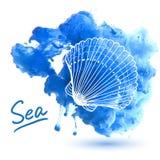 blanc d'isolement de coupage d'interpréteur de commandes interactif de mer de chemin Photo libre de droits