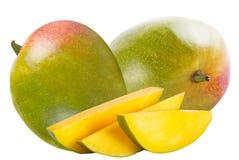 blanc d'isolement de mangue de fruit frais Photo stock