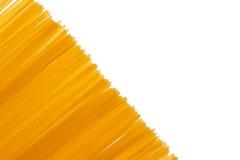 blanc d'isolement de spaghetti Photos libres de droits