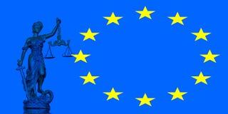 blanc d'isolement de statue de silhouette de justice Photos libres de droits