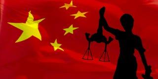 blanc d'isolement de statue de silhouette de justice Images libres de droits