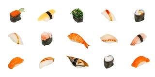 blanc d'isolement de sushi Photo libre de droits