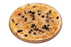 blanc d'isolement de thon de pizza Image stock
