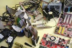 blanc d'isolement de tournevis de réparation d'infographie d'adaptateur Photo stock