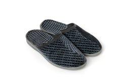 blanc d'isolement gris des chaussons deux Images stock