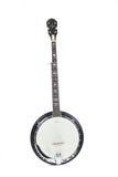 blanc d'isolement par banjo de fond Photographie stock