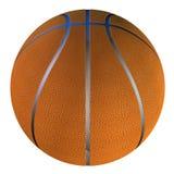 blanc d'isolement par basket-ball de bille de fond Image libre de droits