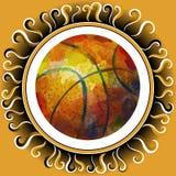 blanc d'isolement par basket-ball de bille de fond Photographie stock