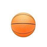 blanc d'isolement par basket-ball de bille de fond Photographie stock libre de droits