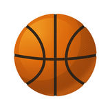 blanc d'isolement par basket-ball de bille de fond Illustration Libre de Droits