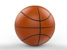 blanc d'isolement par basket-ball de bille de fond illustration stock