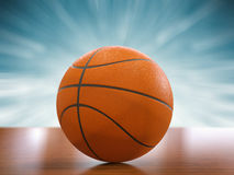 blanc d'isolement par basket-ball de bille de fond Photo stock