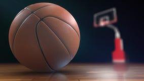 blanc d'isolement par basket-ball de bille de fond Animation avec le canal alpha banque de vidéos