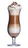 blanc d'isolement par glace de café de cocktail de fond Image libre de droits