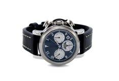 Blanc d'isolement par montre de chronographe photo libre de droits