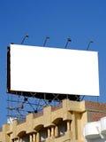 blanc de 05 panneaux-réclame Photographie stock libre de droits