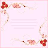 Blanc de bijou pour la carte Image stock