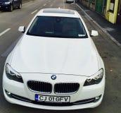 Blanc de BMW Photographie stock libre de droits