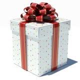Blanc de boîte-cadeau avec des étoiles photographie stock libre de droits